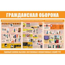 Стенд артикул СТ06810001500 1000x1500  Гражданская оборона