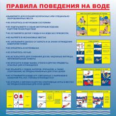 Стенд артикул СТ00010001000 1000x1000 Правила поведения на воде