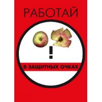 П1-Очки 420x297  Работай в защитных очках - 1 плакат