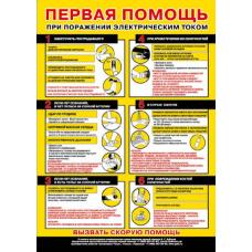 П1-ППЭлектро 594x420 Первая помощь при поражении электрическим током  1 плакат