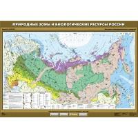 Природные зоны и биологические ресурсы России, 100х140 см