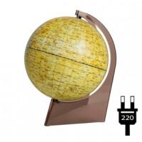 Глобус Луны D 210 с подсветкой на треугольной поставке из пластика