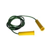 Скакалка L-1,8 м шнур из резины, ручка пластмассовая