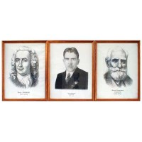Портреты выдающихся биологов (дерев. рамка)