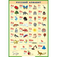 Русский алфавит в картинках, 100х140