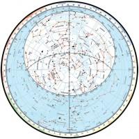 Подвижная карта звездного неба  (А4)