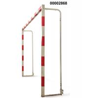 Ворота для гандбола и минифутбола трансформируемые б/сетки на колёсиках 3х2х0,5 м