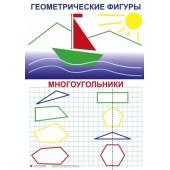 Таблицы по математике 1 кл. (10 шт.)  50х70 см, картон, ламин