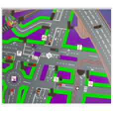Доска магнитная со схемой населенного пункта