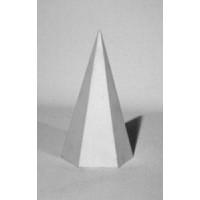 Геометрическая фигура Пирамида (гипс)