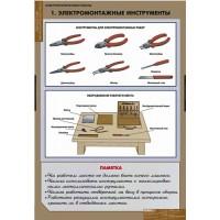 Комплект таблиц Электротехнические работы (12 табл. + CD)