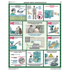 Безопасность работ на металлообрабатывающих станках (5 плакатов, ламин.)