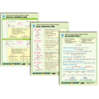 Комплект таблиц по алгебре и началам анализа раздат. Функции и графики (цвет., лам., А4, 8 шт.)