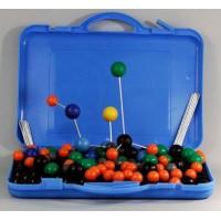 Комплект моделей атомов для составления молекул со стержнями (дем.)