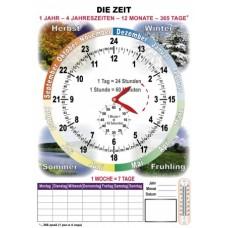 Время на немецком  языке (комплект)