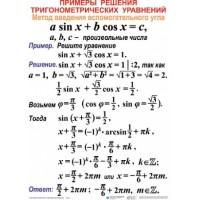 Тригонометрические уравнения и неравенства (12 табл. 50х70)