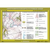 Топографическая карта и условные знаки, 70х100