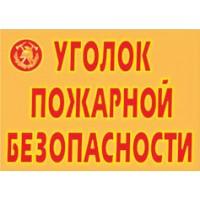 Уголок пожарной безопасности (9 плакатов, А3)