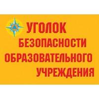 Уголок безопасности образовательного учреждения - (8 пл. 30*41)