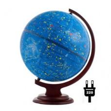 Глобус звездного неба D 320 c подсветкой на деревянной подставке
